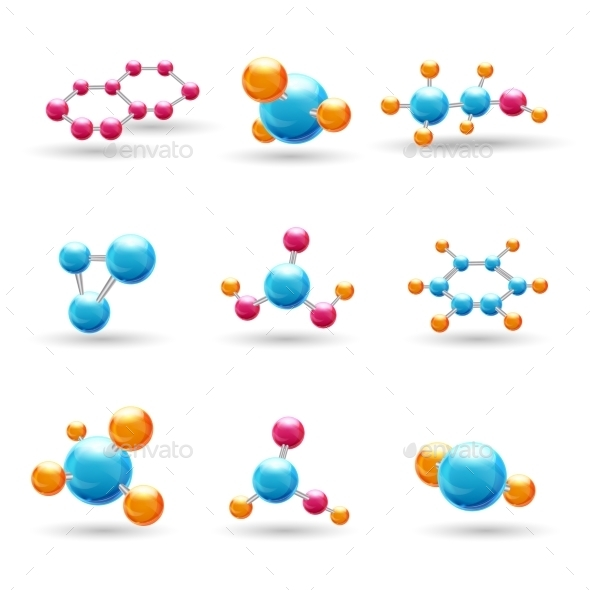 GraphicRiver 3D Chemical Molecules 9032983