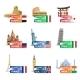 World Landmarks Ticket Set - GraphicRiver Item for Sale