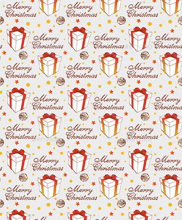 GraphicRiver Christmas Seamless Pattern with Gift 9032995