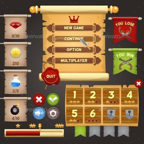 GraphicRiver Game Interface Design 9032996