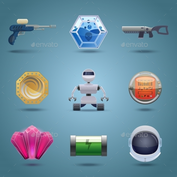 GraphicRiver Space Game Icons 9032997
