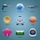 Space Game Icons - GraphicRiver Item for Sale