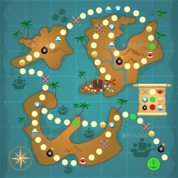 GraphicRiver Pirates Treasure Island Game 9033003