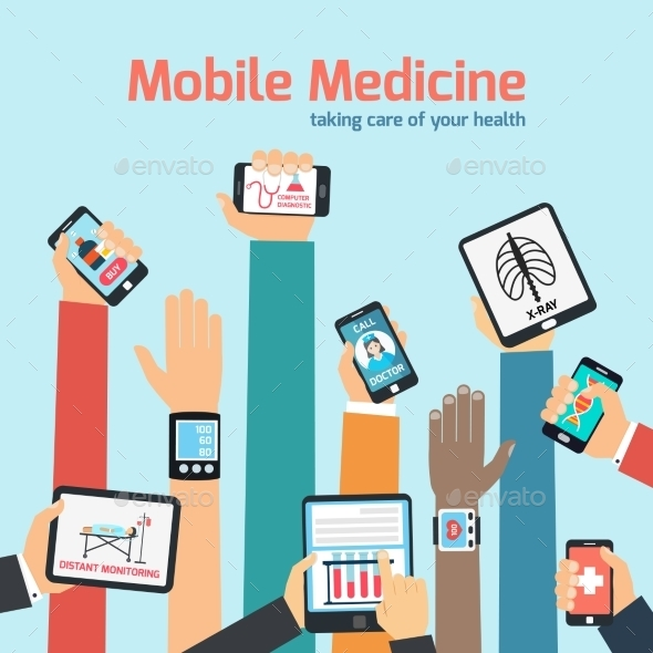 GraphicRiver Mobile Health Concept 9033022