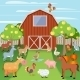Farm with Animals - GraphicRiver Item for Sale
