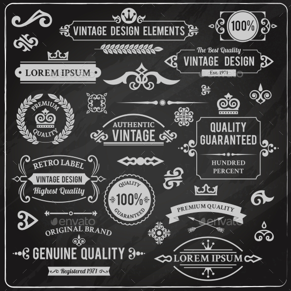 GraphicRiver Vintage Design Elements 9033101