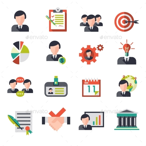 GraphicRiver Business Management Icons 9033106