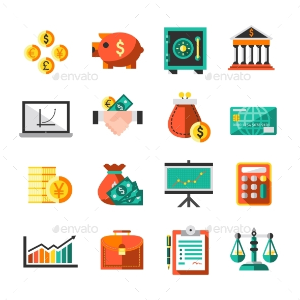 GraphicRiver Finance Icons Set 9033109