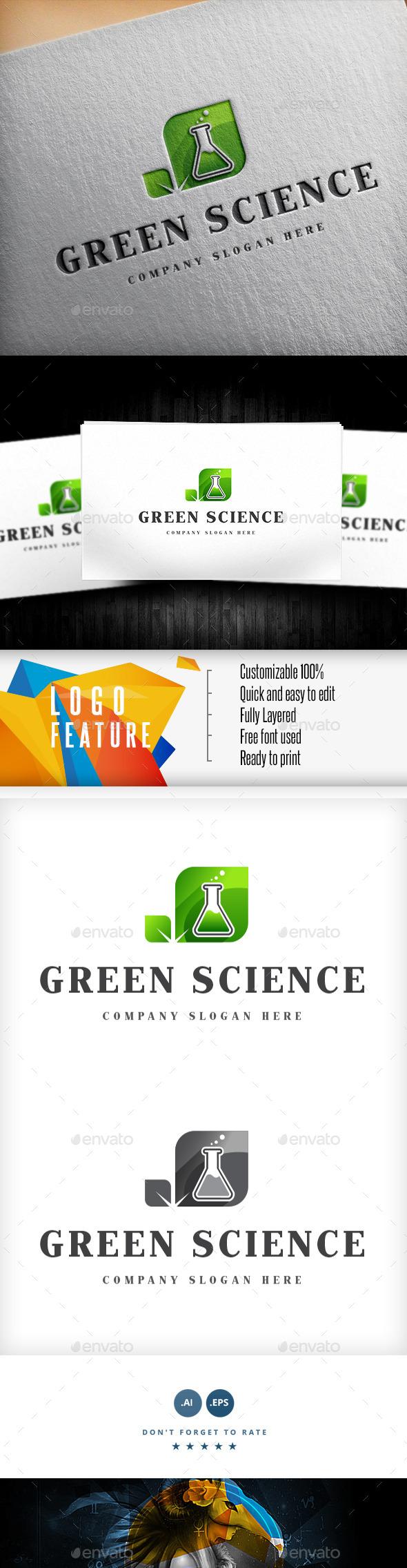 GraphicRiver Green Science Logo 9033117