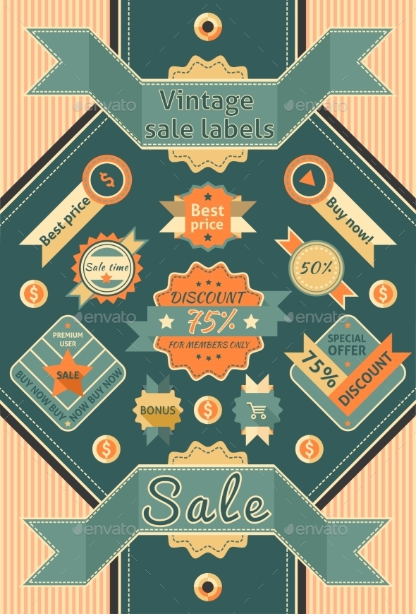 GraphicRiver Vintage Sale Labels 9033120