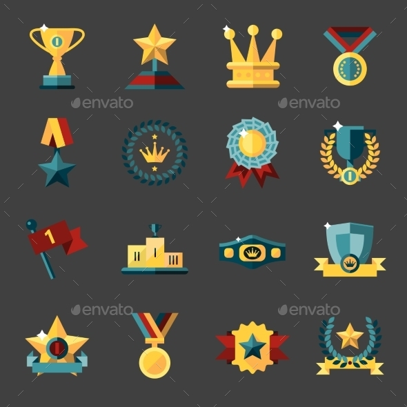 GraphicRiver Award Icons Set 9033136