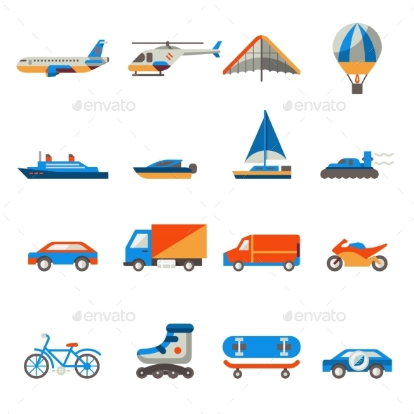 GraphicRiver Transport Icons Set 9033137