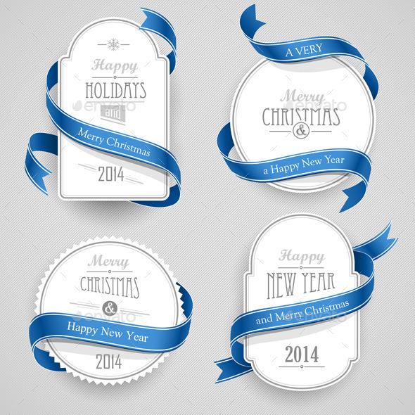 GraphicRiver Christmas Emblems 9033149