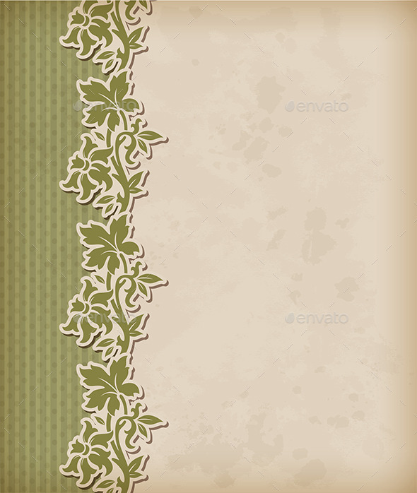 GraphicRiver Vintage Background and Floral Ornament 9033155