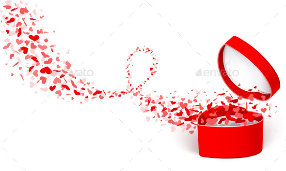 GraphicRiver Gift Box with Hearts 9033200