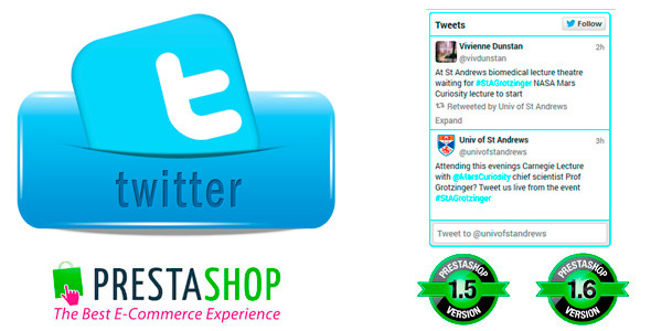 CodeCanyon Prestashop Twitter Widget 9033349