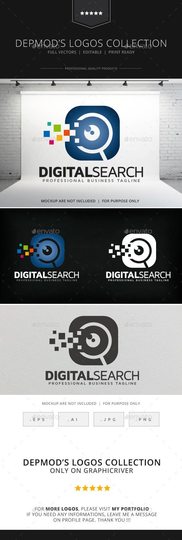GraphicRiver Digital Search Logo 9033473