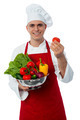 Male chef holding a fresh vegetables - PhotoDune Item for Sale