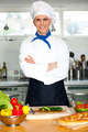 Male chef chopping vegetables in table - PhotoDune Item for Sale