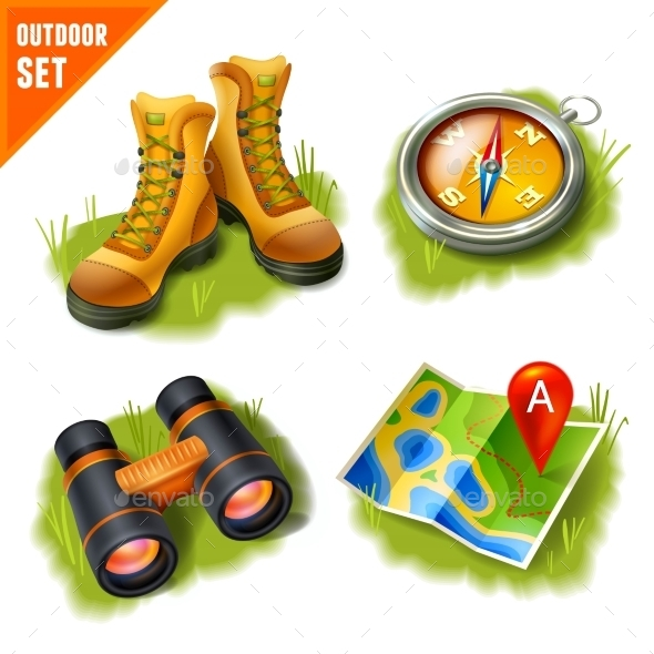 GraphicRiver Camping Icons Set 9033768