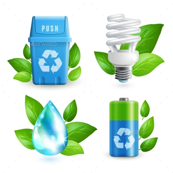 GraphicRiver Ecology and Waste Icon Set 9033771