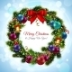 Christmas Wreath Postcard - GraphicRiver Item for Sale
