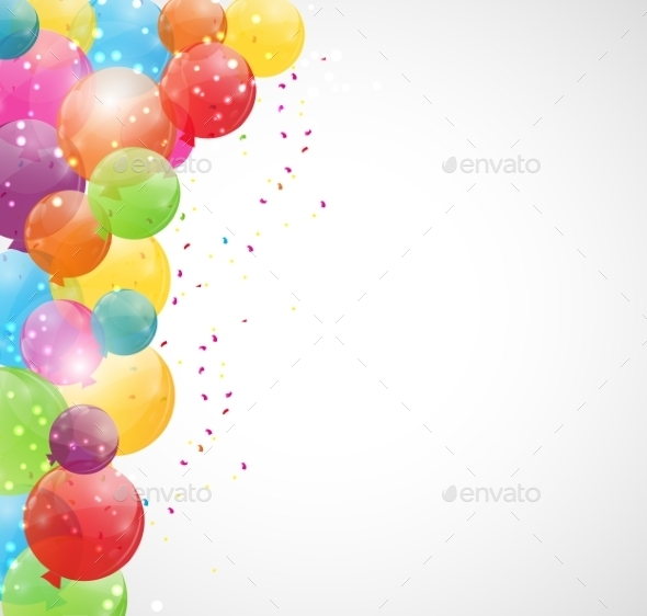 GraphicRiver Color Glossy Balloons Background Vector Illustration 9033789
