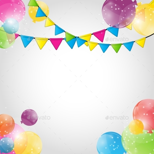 GraphicRiver Color Glossy Balloons Background Vector Illustration 9033792
