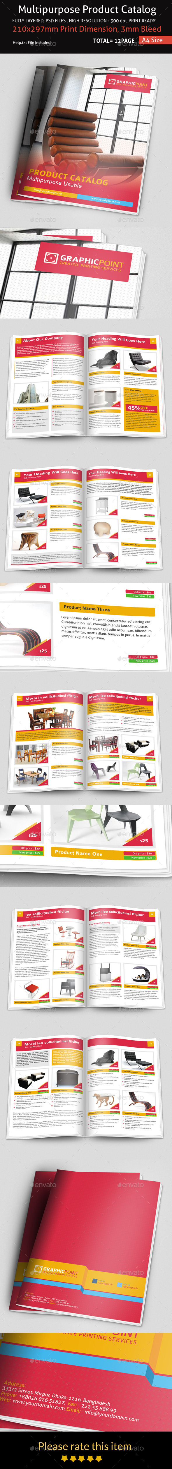 GraphicRiver Multipurpose Product Catalog 9033836