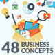 Set of Flat Design Business Concepts  - GraphicRiver Item for Sale