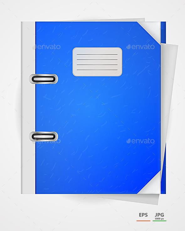 GraphicRiver Vector Illustration of Blue Folder 9033915