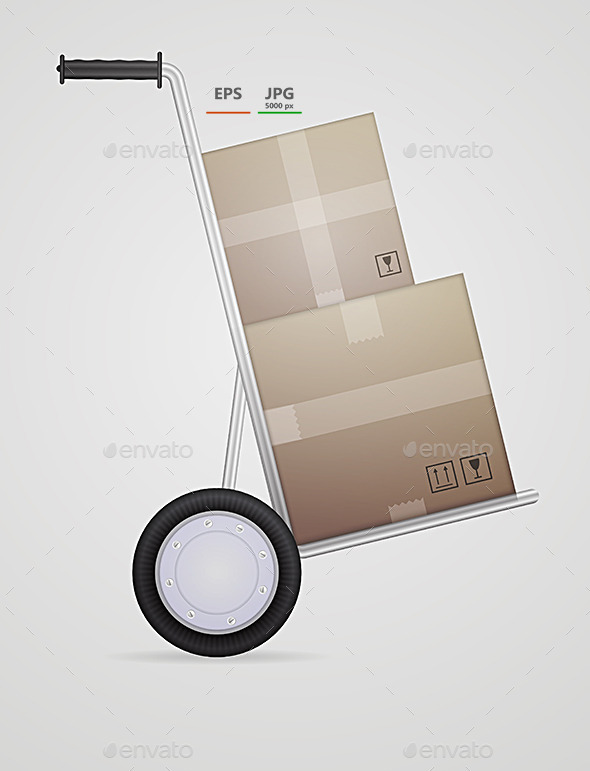 GraphicRiver Vector Illustration of Delivery Hand Truck 9033956