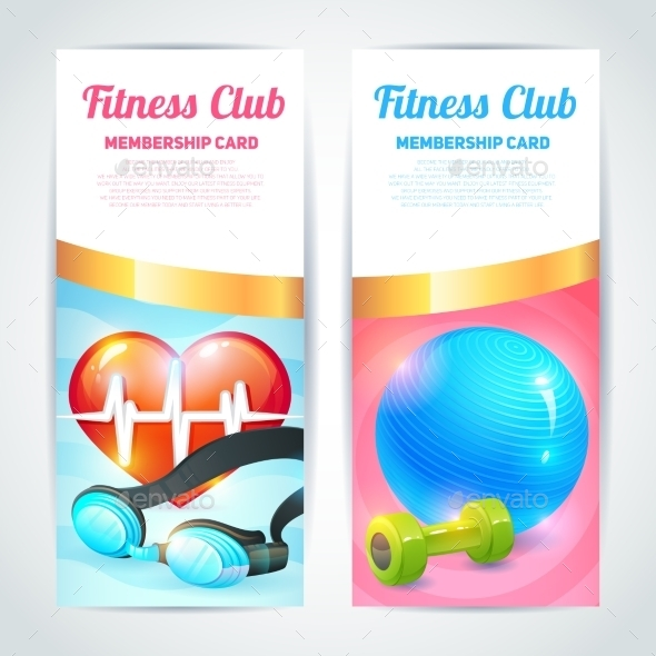 GraphicRiver Fitness Club Card Design 9034104