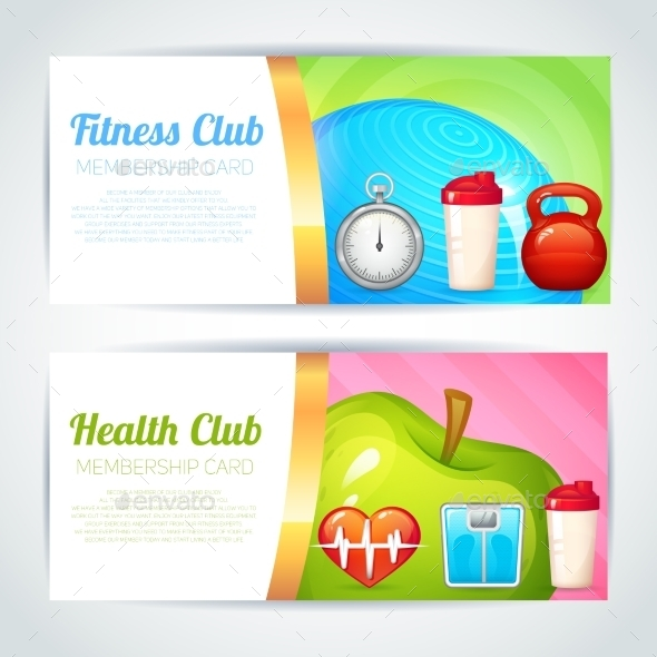GraphicRiver Fitness Club Card Design 9034107