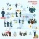 Teamwork Infographic Set - GraphicRiver Item for Sale