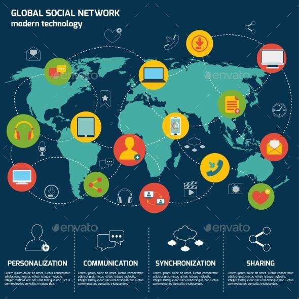 GraphicRiver Social Network Infographics 9034132
