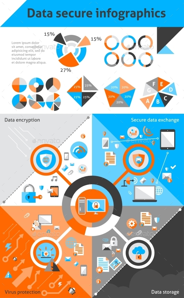 GraphicRiver Data Secure Infographics 9034137