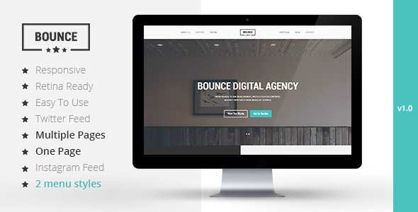 ThemeForest BOUNCE Responsive Multipurpose Template 8232518