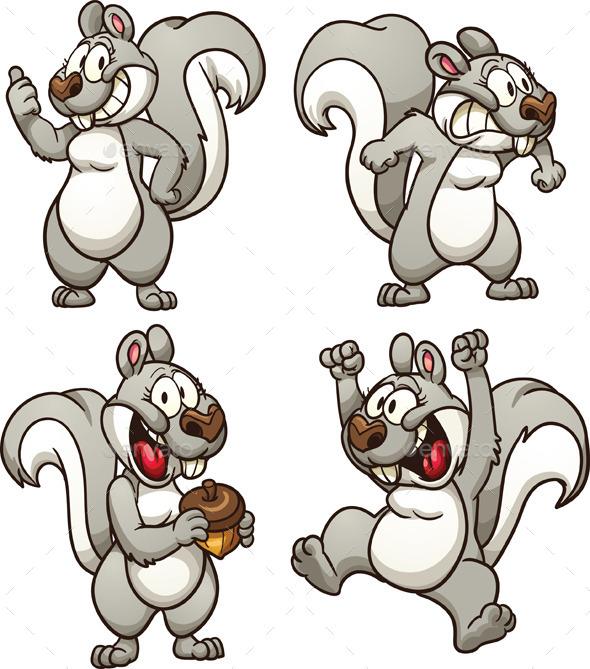 GraphicRiver Cartoon Squirrel 9034298