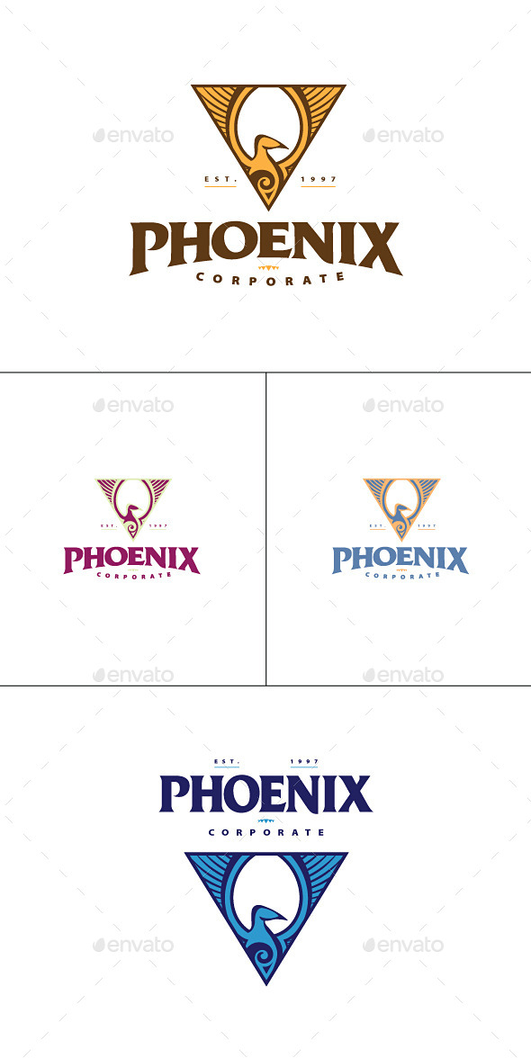 GraphicRiver Phoenix Triangle Logo Template 9036281