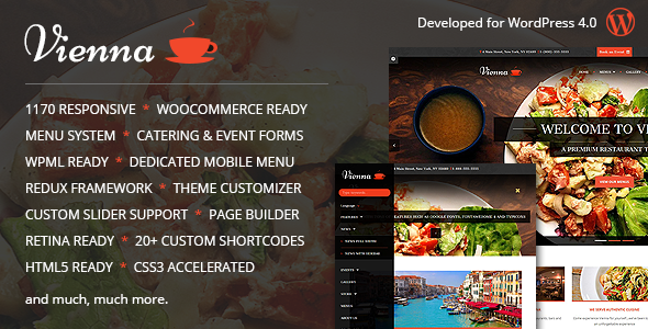 ThemeForest Vienna Responsive WordPress Restaurant Theme 9036681