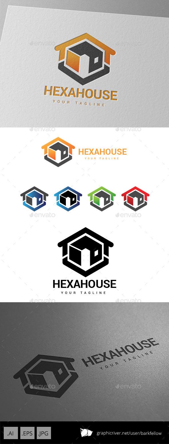 GraphicRiver Hexa House Realty Property Logo 9037011