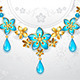 Necklace with Gold Flowers - GraphicRiver Item for Sale