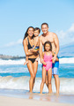 Happy Mixed Race Family on the Beach - PhotoDune Item for Sale