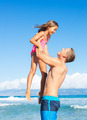 Father and Daughter at the Beach - PhotoDune Item for Sale