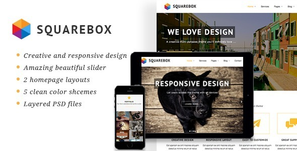 ThemeForest Squarebox Creative Multi-Purpose HTML Theme 9039991