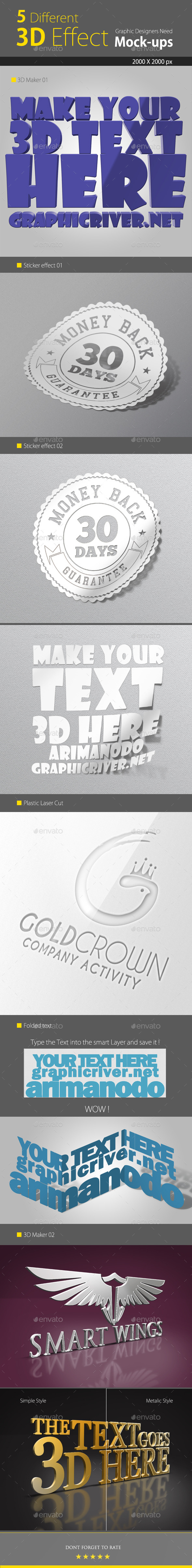 GraphicRiver 3D Text Logo Mock up 9040656