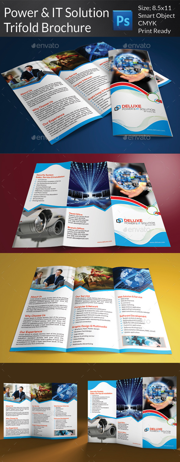 GraphicRiver Power & IT Solution Trifold Brochure 7996120