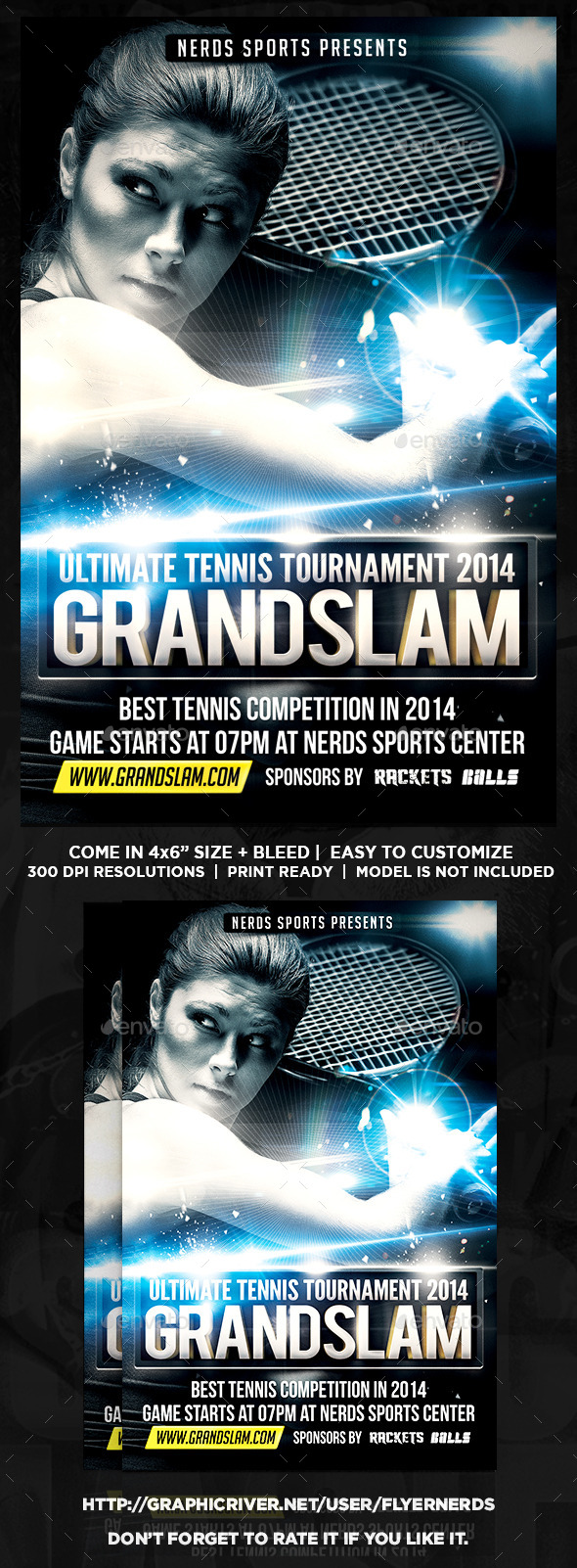 GraphicRiver Tennis Tournament Flyer 9041033
