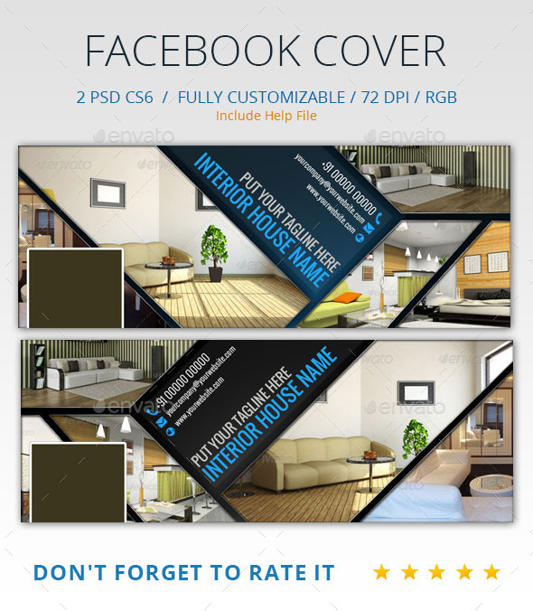 GraphicRiver Interior Design Facebook Cover 9041257